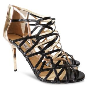 NEW JIMMY CHOO Fiscal Strappy Heeled Sandals